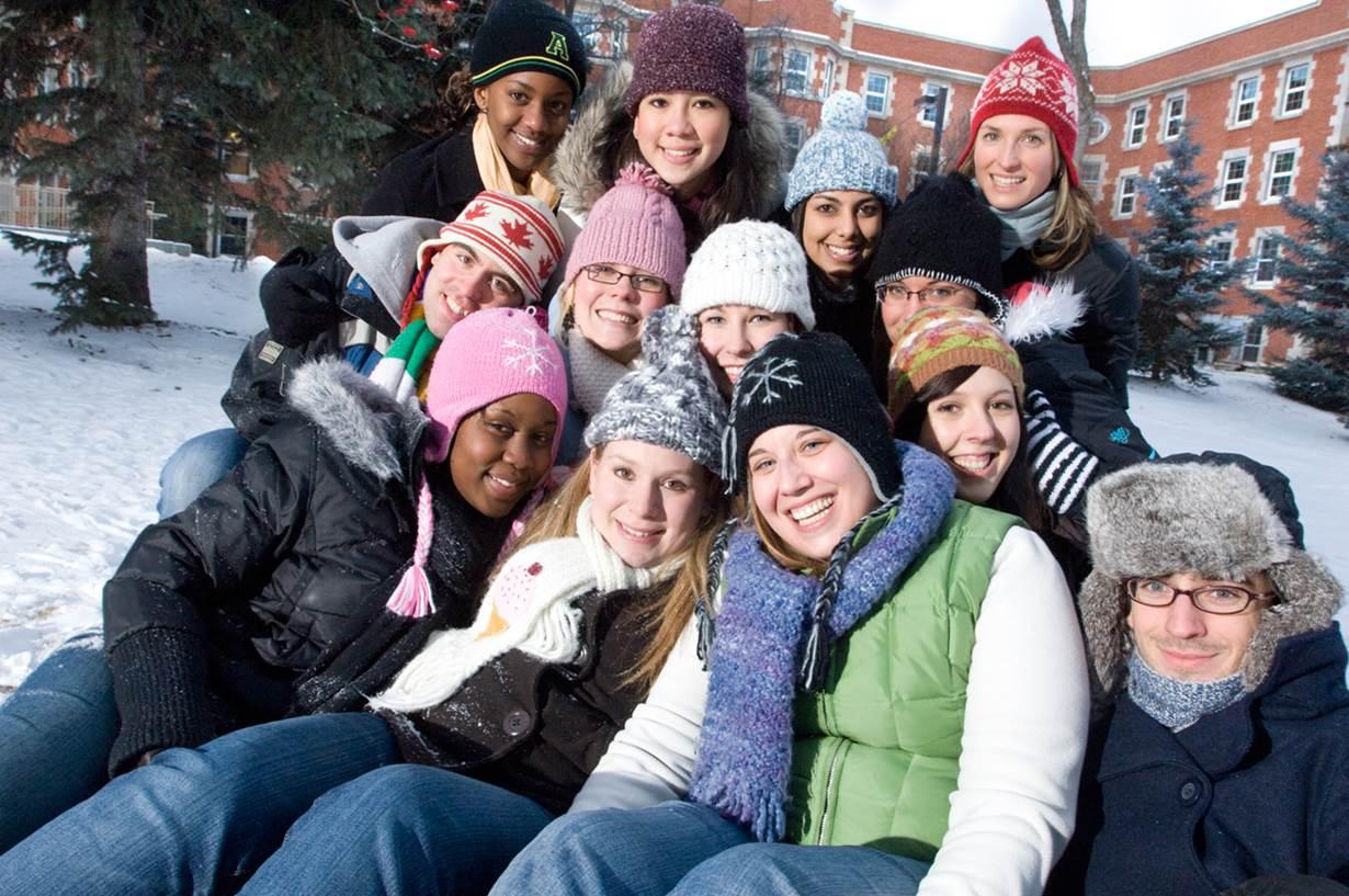 students winter