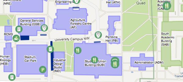 Campus Maps Content