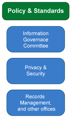 Policy & Standards - Information Governance Committee, Privacy & Security, Records Management and other offices