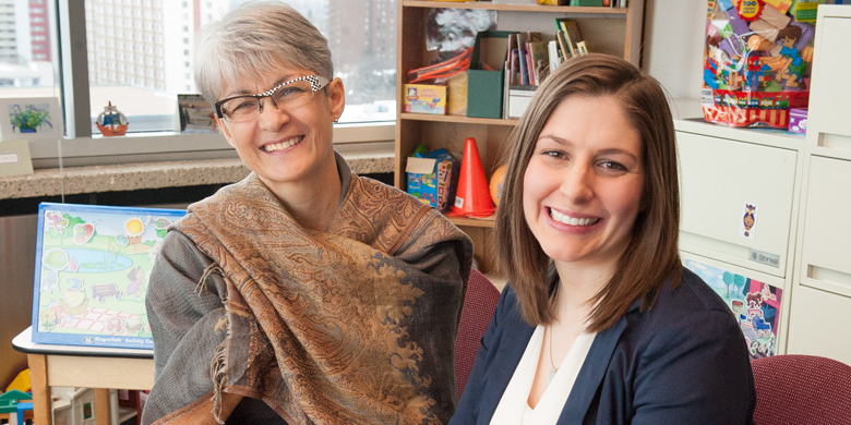 Marilyn Langevin (left) and Jessica Harasym