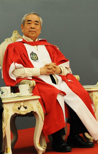 Professor Fan Zeng received an honorary degree from UAlberta in a special ceremony in Beijing in 2012.