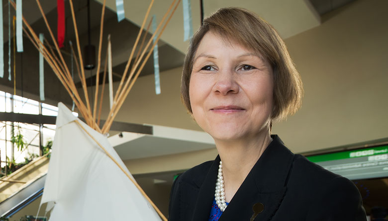 Cindy Blackstock, winner of UAlberta's Community Scholar award for 2014