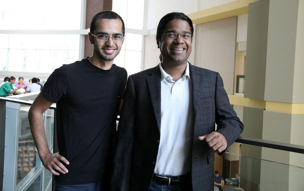 Saman Jahani (left) and Zubin Jacob
