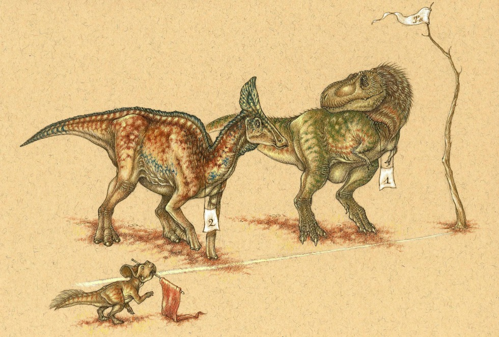 Could the humble hadrosaur outrun the mighty T. Rex in an endurance race? UAlberta paleontologists think so, based on their new study on the dinosaurs' bone and muscle structure.