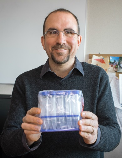 ISTAR executive director Deryk Beal holds a set of DNA collection kits