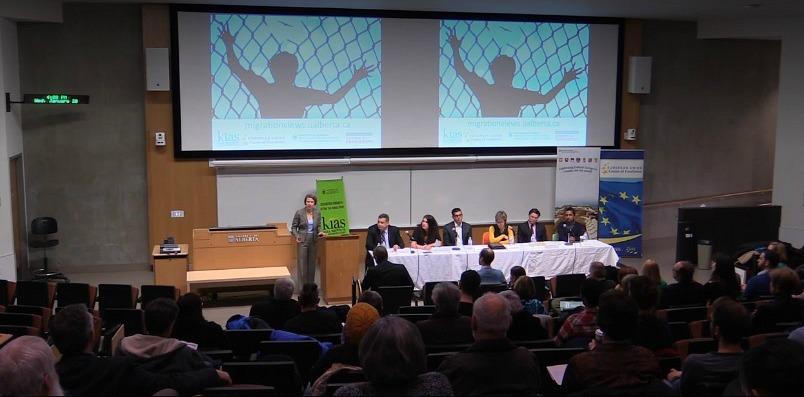 An expert panel discusses Canada's response to the refugee crisis during a public roundtable event Jan. 20.