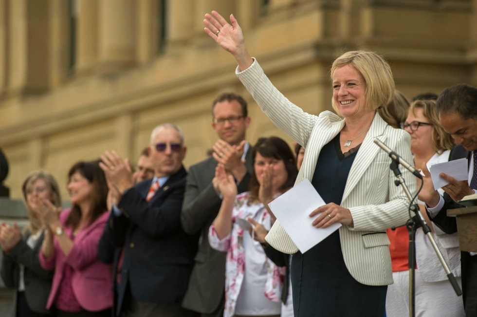 Premier Rachel Notley at her swearing-in ceremony May 24, 2015
