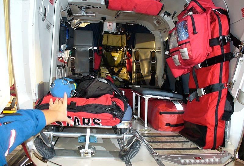 Inside a STARS air ambulance