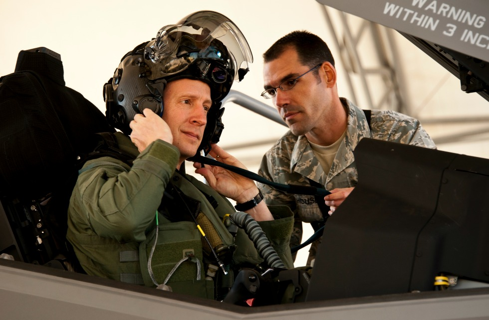 A pilot wearing a special head-mounted display in the helmet of his F-35 jet fighter is one of the most sophisticated examples of augmented reality.