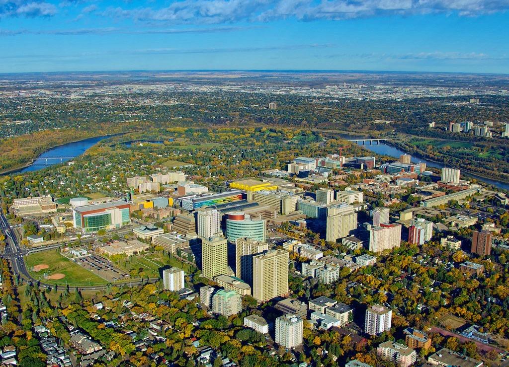 Aerial view of UAlberta's North Campus