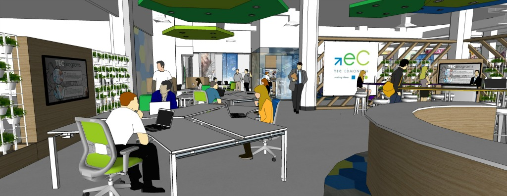 TEC Edmonton's new Innovation District at Enterprise Square gives entrepreneurs ample space to bring their startups from idea to reality.