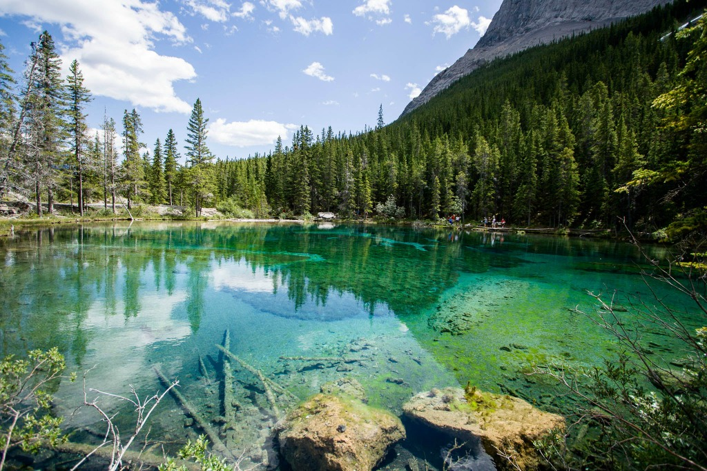 The Grassi Lakes area near Canmore, Alta.