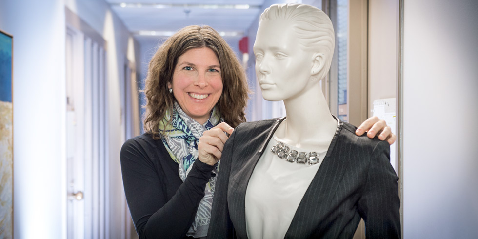 UAlberta marketing expert Jennifer Argo with the kind of too-perfect mannequin that can turn off shoppers.