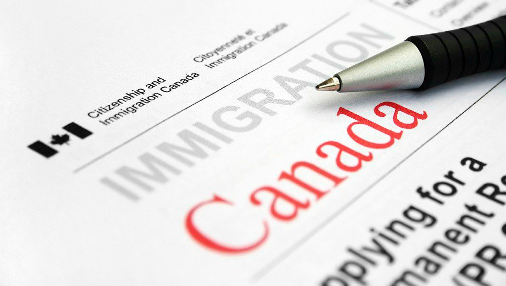 A Canadian immigration form
