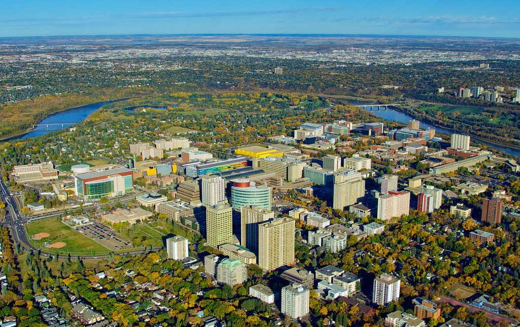 Aerial view of UAlberta's north campus