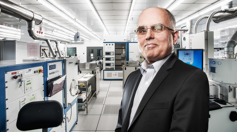 Ken Cadien at the NanoFab clean room