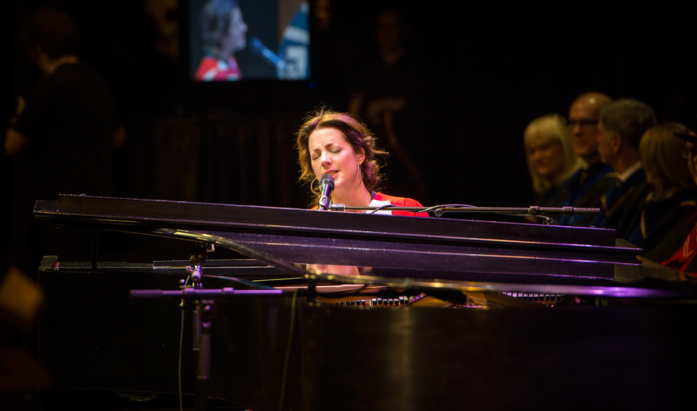 Sarah McLachlan performs at fall convocation