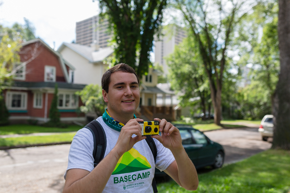 Brock Richardson, one of the organizers of the BaseCamp orientation program for first-year students living in residence