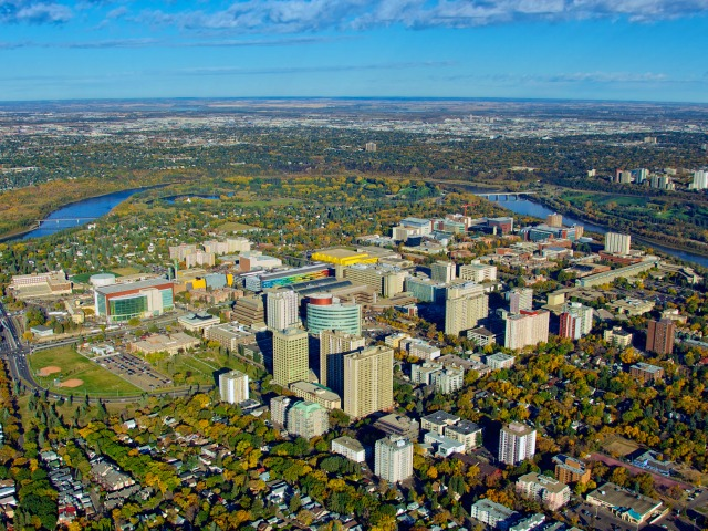 UAlberta wallpaper: Aerial view of North Campus