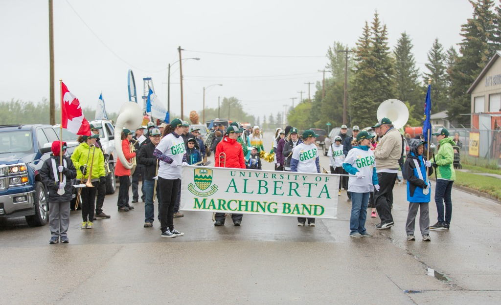 The U of A Marching Band played over the May long weekend in Thorsby, and has two more events in  St. Albert and Stony Plain. After that, they'll wrap up for the summer.