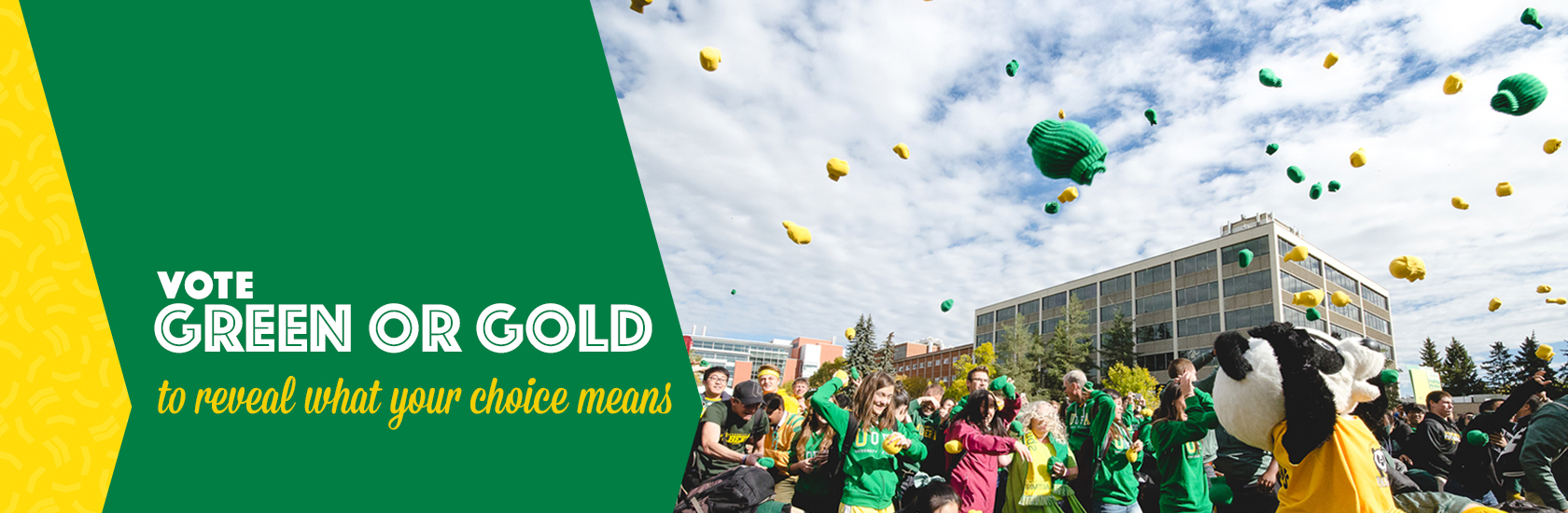 Vote Green or Gold to reveal what your choice means