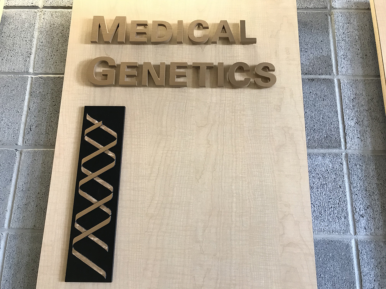Wall Decoration at the front entrance of the Department of Medical Genetics.