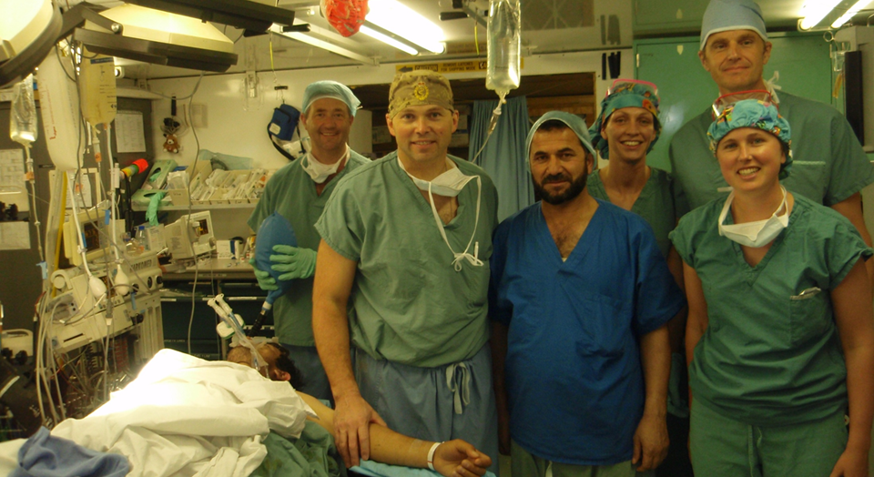 Dr. Ron Brisebois with a surgical team