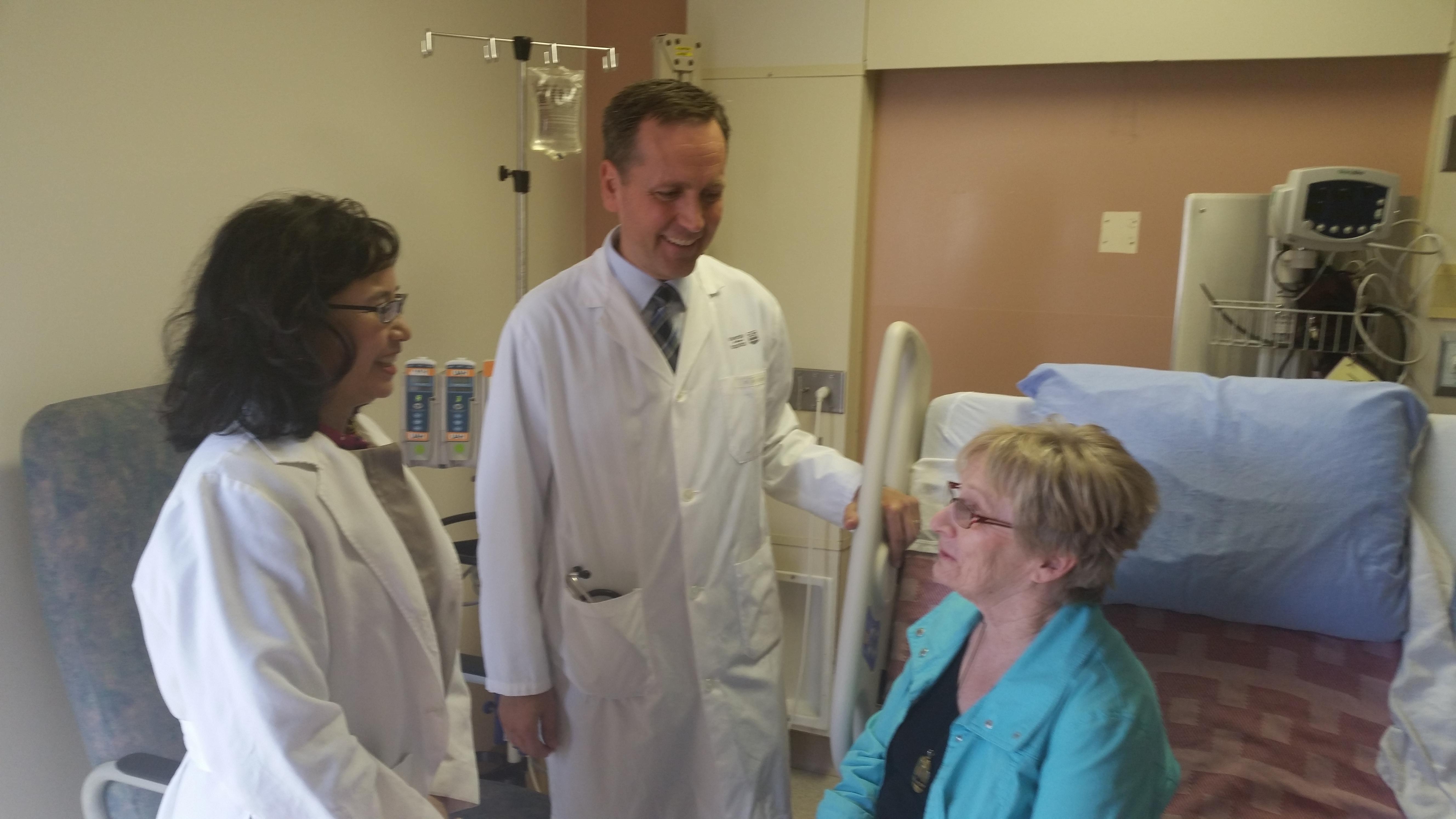 Rachel Khadaroo and Darryl Rolfson speak with former patient Susan Gokiert