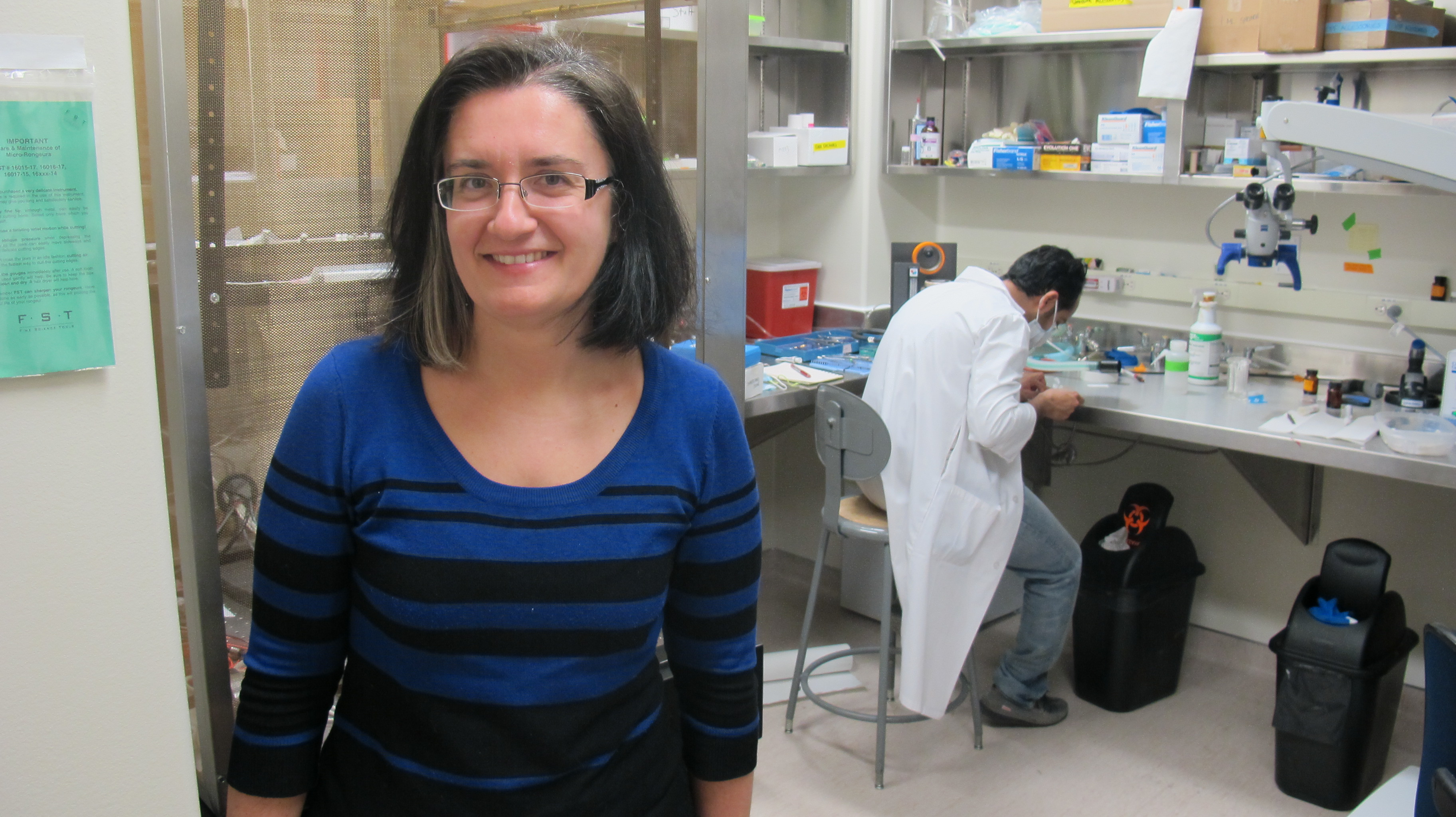 Silvia Pagliardini co-authored a paper in the journal Nature examining the science of sighing