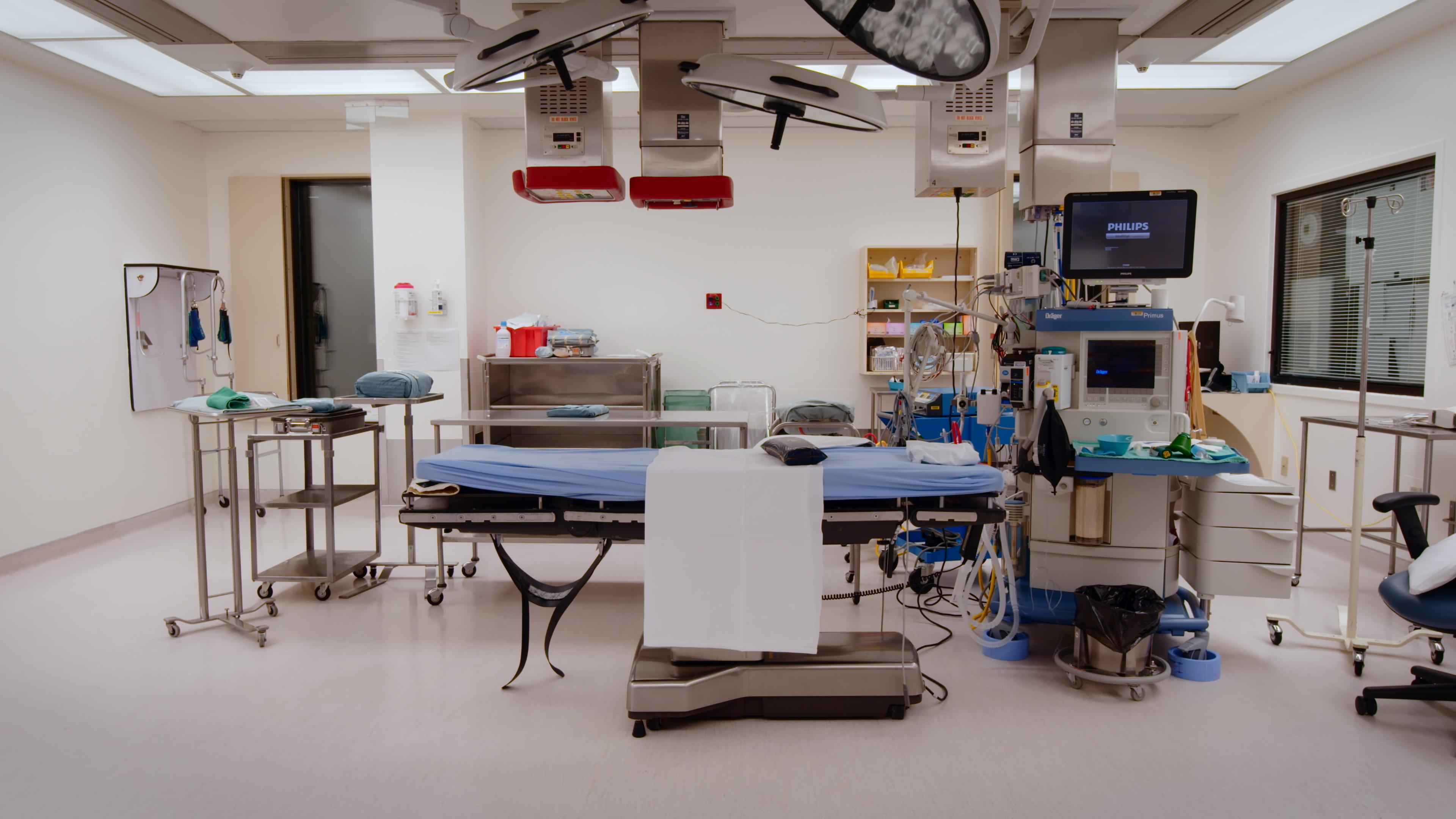 Operating room at the University of Alberta Hospital