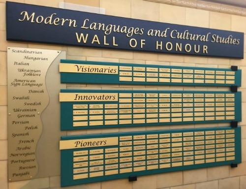 wall of honour MLCS