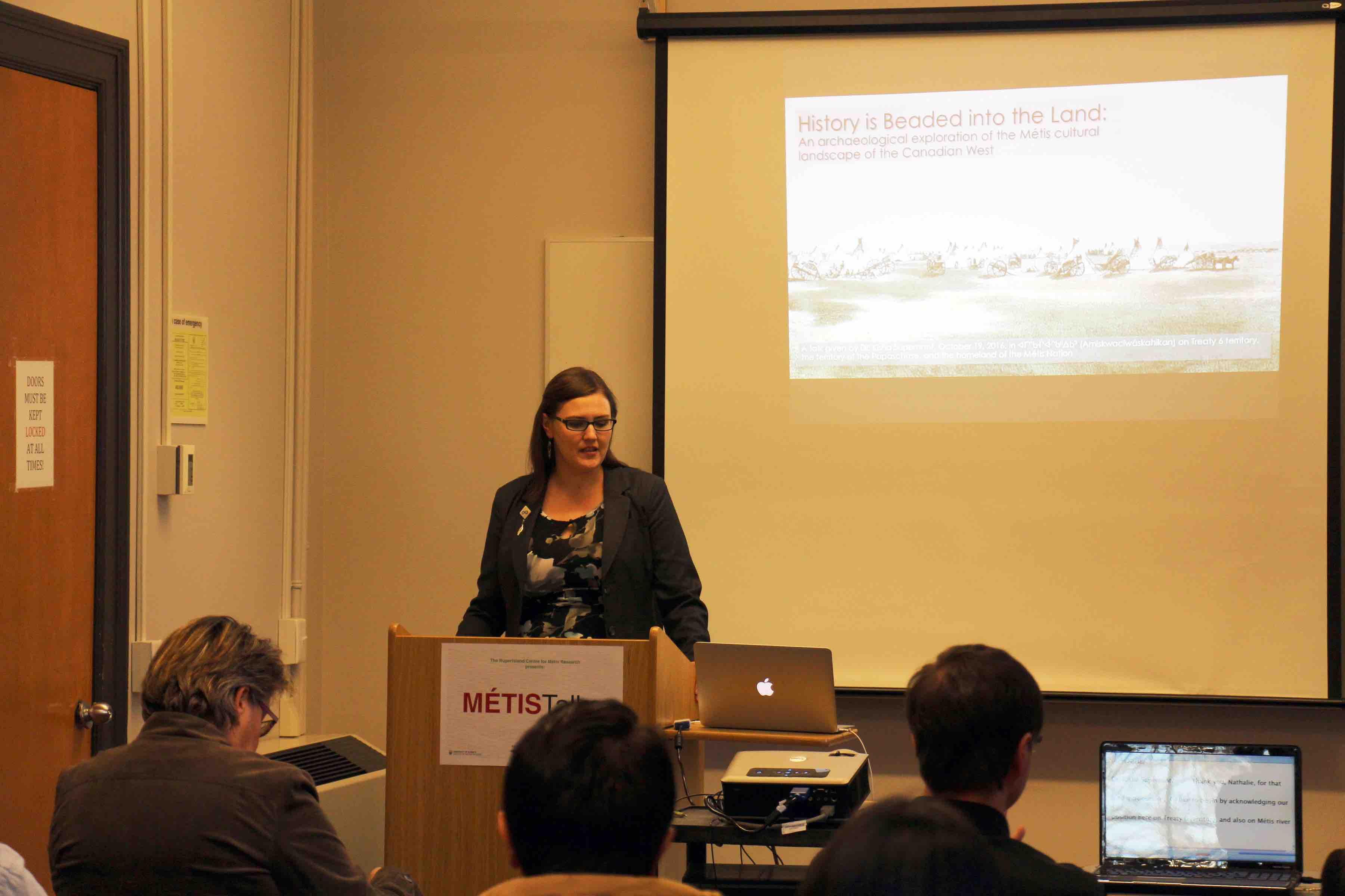 Kisha Supernant presenting