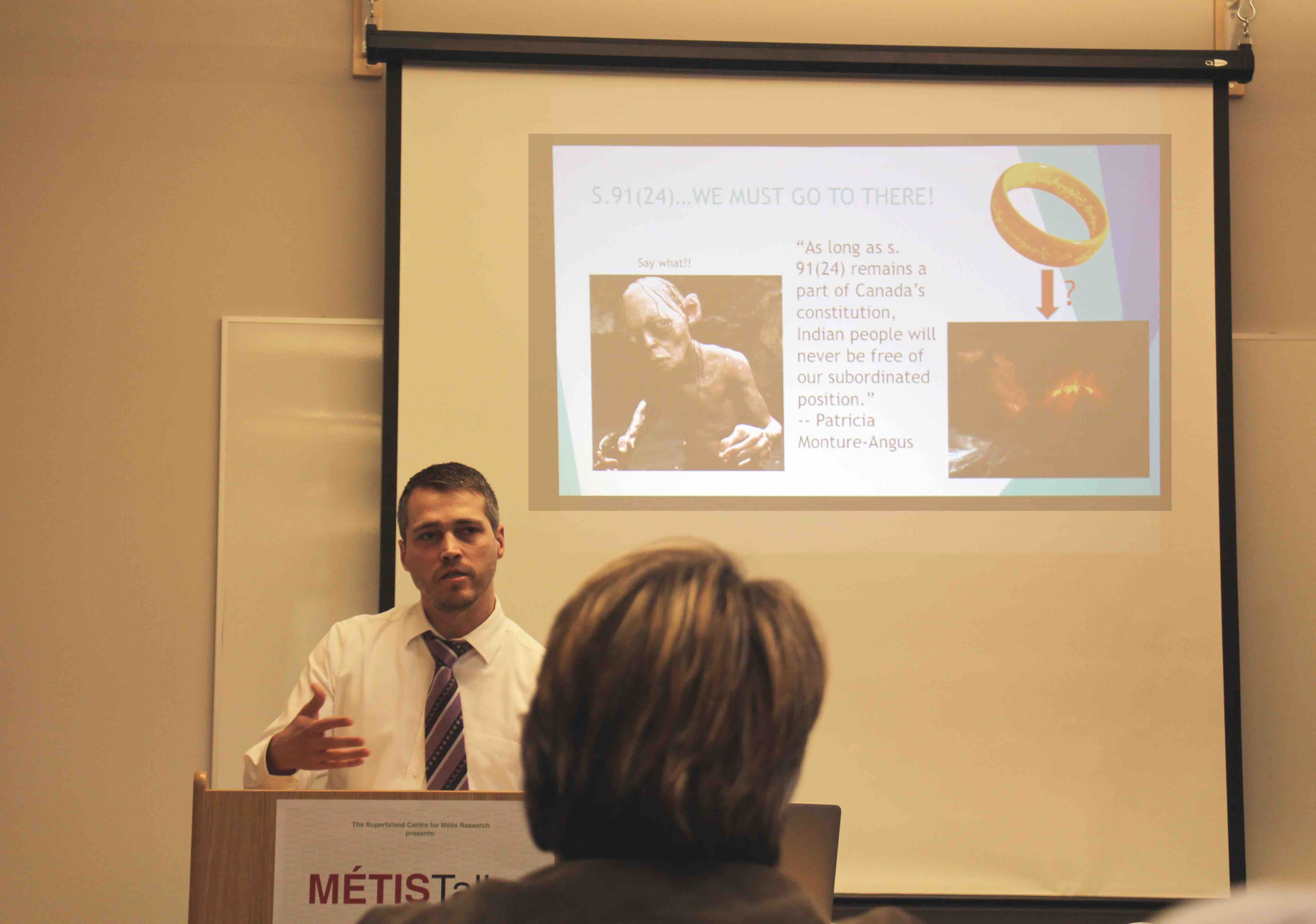 D'Arcy Vermette presenting