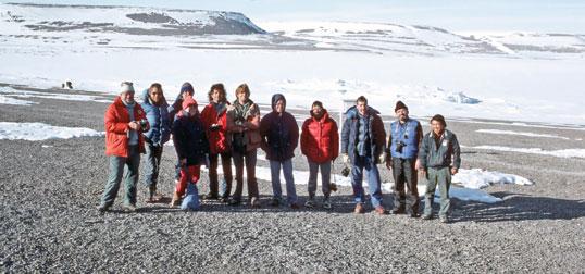 The 1986 crew on Beechey Island