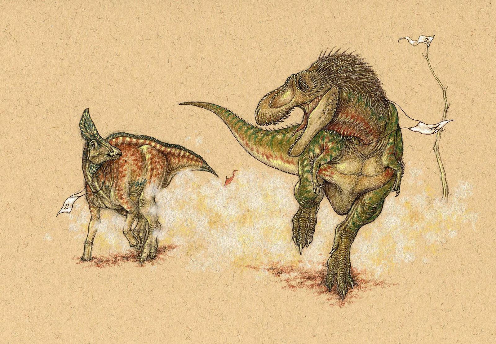 Dinosaur Race – Tyrannosaurus Rex wins