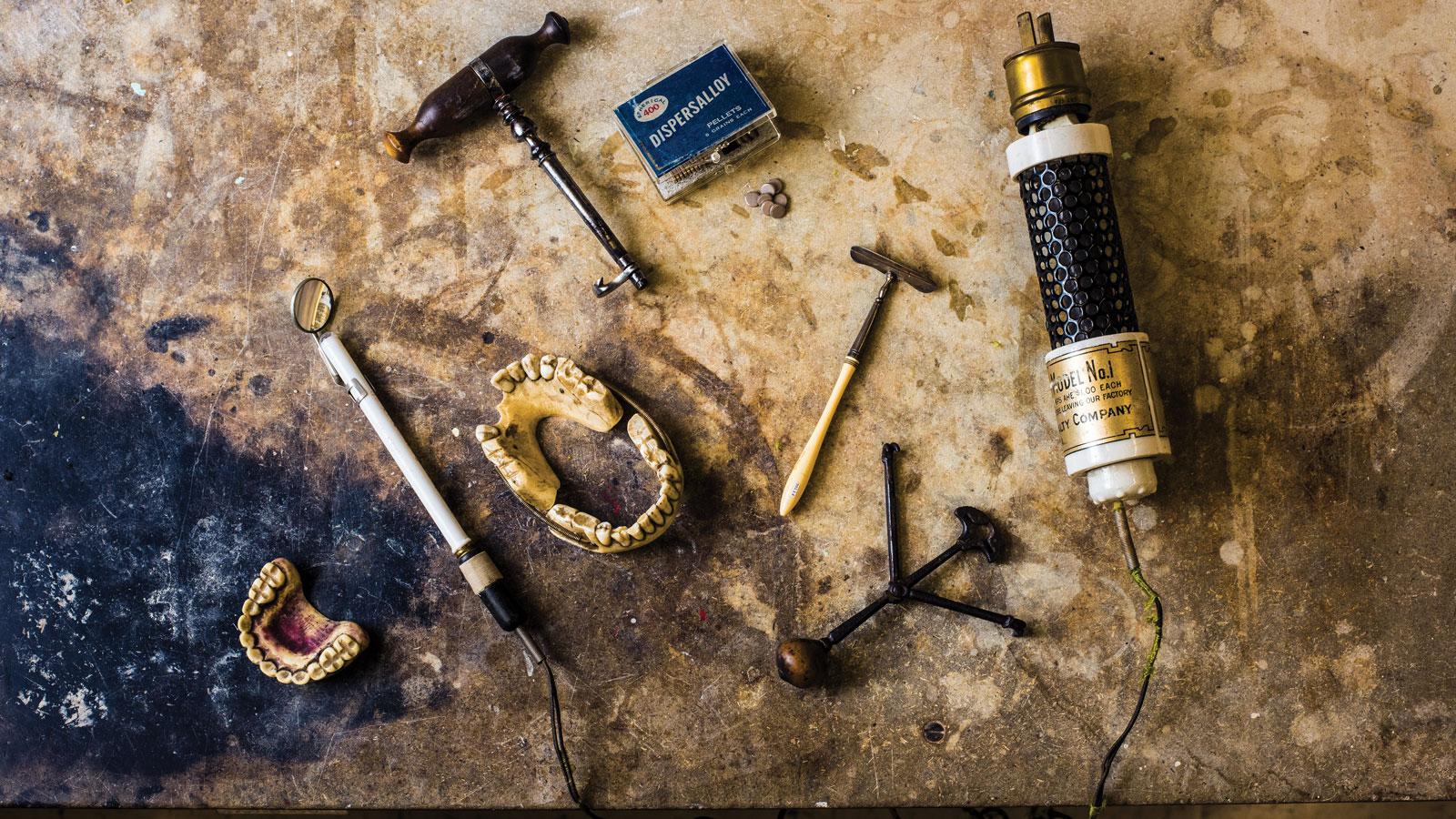 Old dental tools