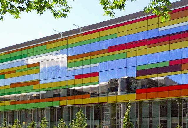 Photo of Edmonton Clinic Health Academy on University of Alberta campus in Edmonton, Alberta