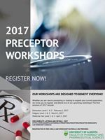 Descriptive poster of the Preceptor workshops for 2017