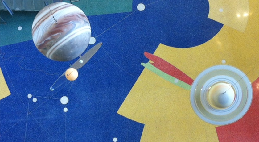 CCIS planets in the west atrium