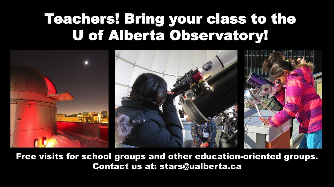 University of Alberta Observatory - School Field Trips