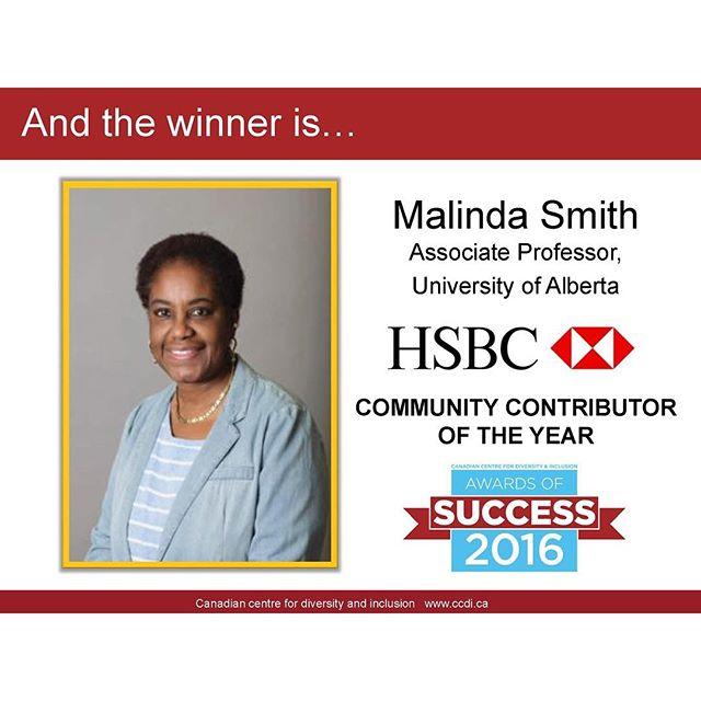 Dr  Malinda Smith, Associate Professor, Political Science wins HSBC