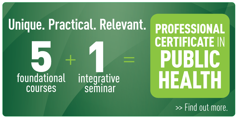 NEW Professional Certificate in Public Health