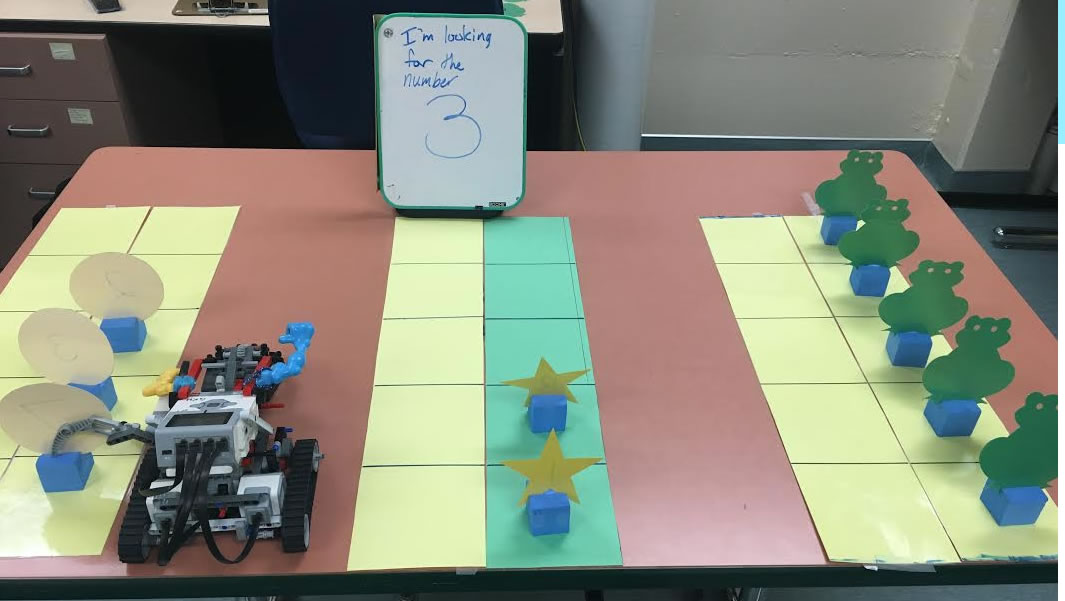 Robot sorting into groups an example of assistive technology used in Kim Adams's study.