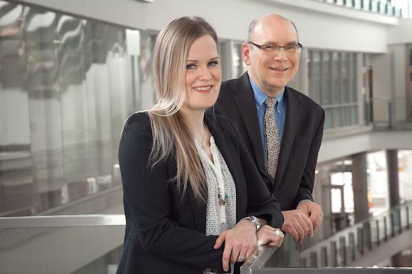 Jennifer Morrison and Dr. Larry Kostiuk