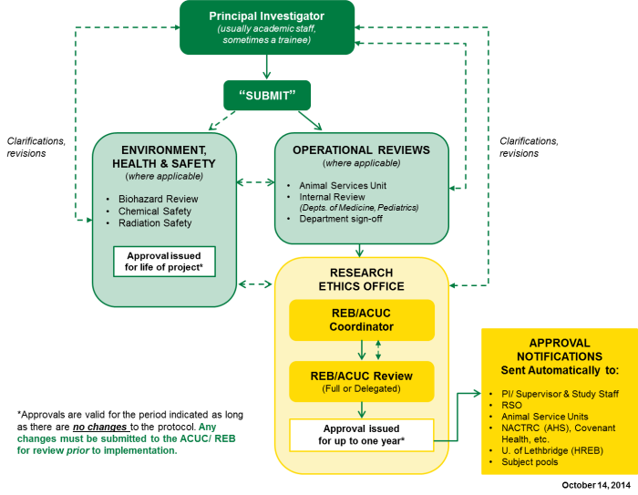 Diagram illustrating the routing of an example ethics application through the REMO system.