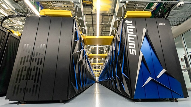 IBM's Summit, housed at the Oak Ridge National Laboratory, the world's most powerful supercomputer.