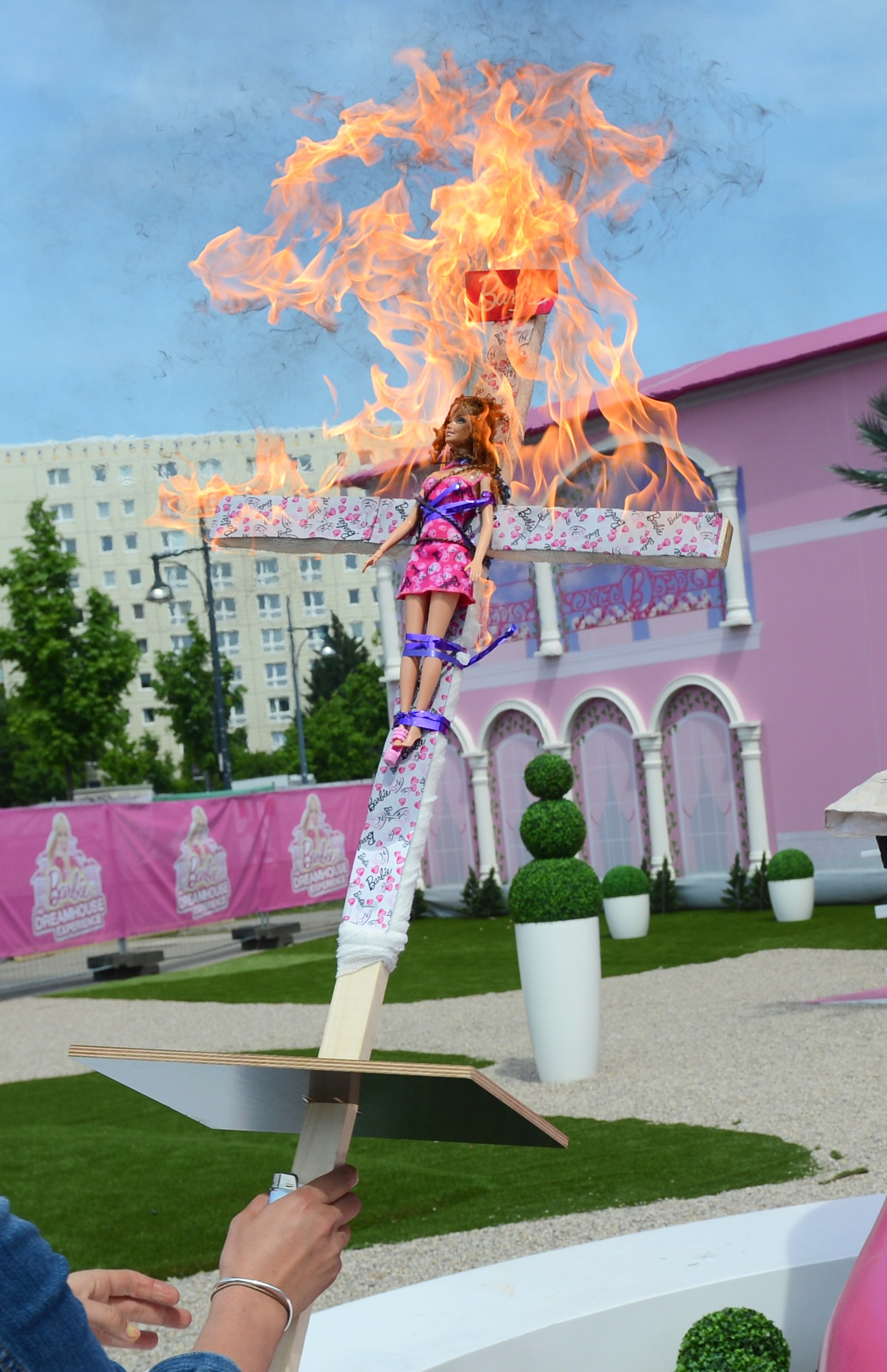 From the book Awkward Politics: Barbie Dreamhouse Experience in Berlin, May 2013; epa