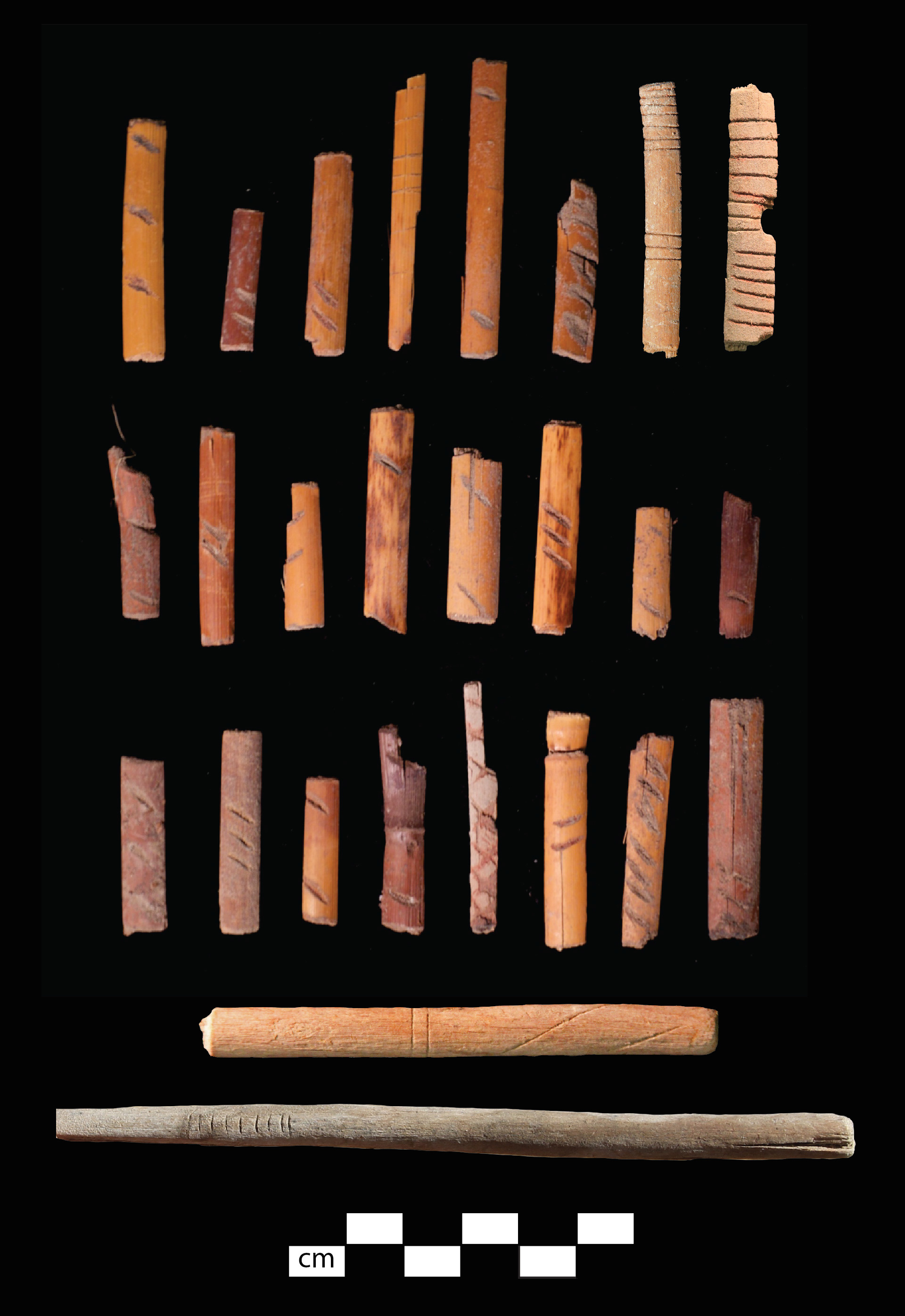 Promontory Culture cane dice and gaming sticks