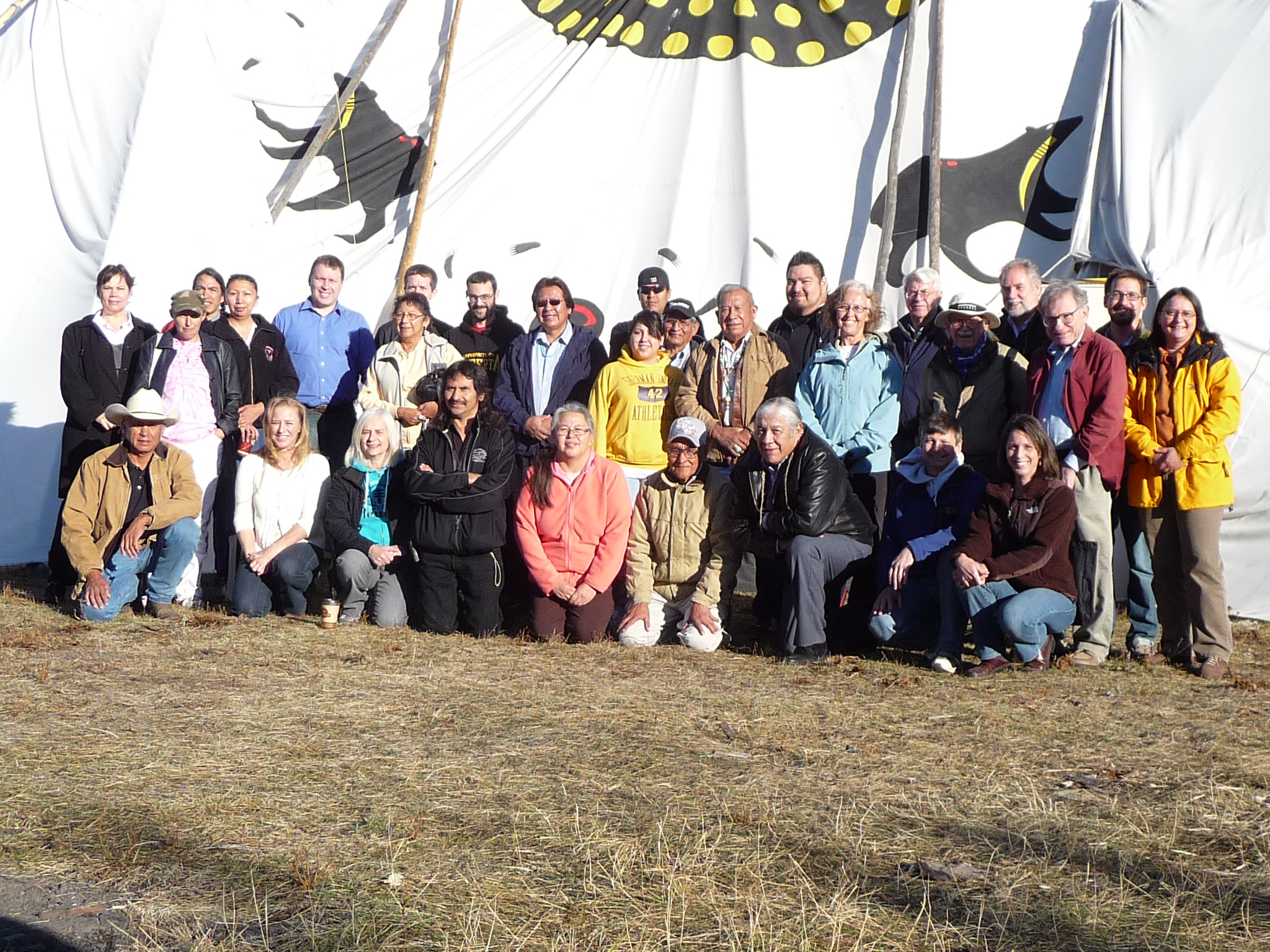 Group photo from 2009 Dene Migration Workshop at the Tsuut'ina Nation