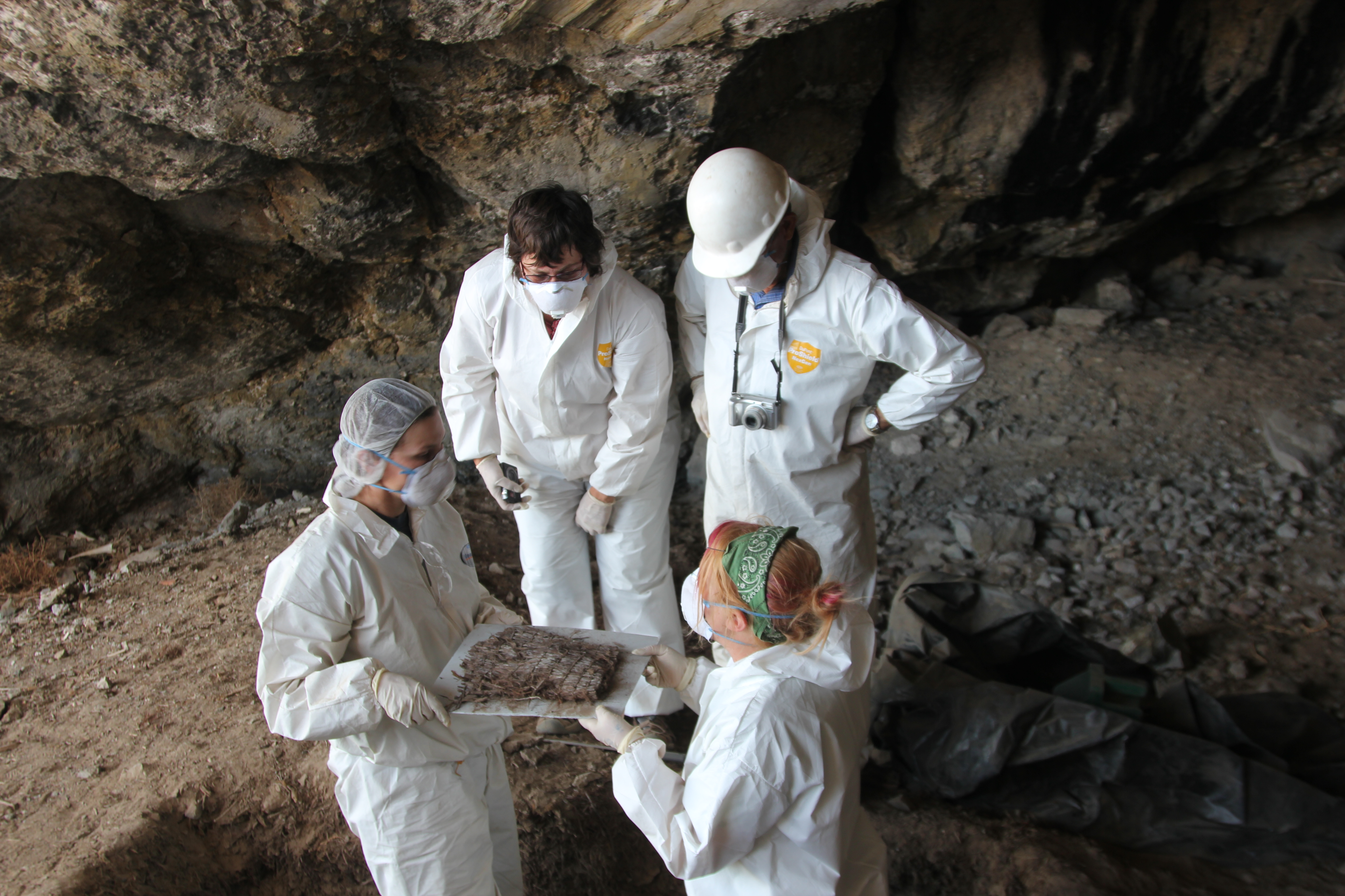 Team working in Cave 1